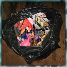 Scene 82: Clothing Packed in Trash Bags