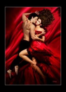 Crimson Kisses (Cordelia/Angel Art by Lysa Whitmore)