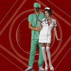 Halloween at the Hyperion - Doc and Nurse