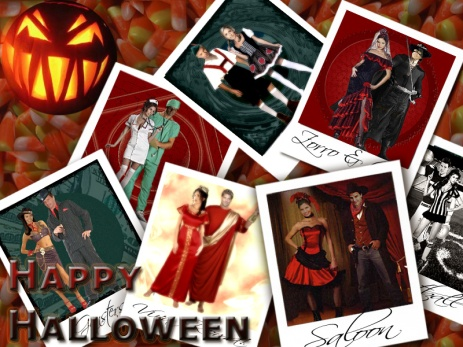 Happy Halloween - Montage of Halloween Costumes - by Lysa Whitmore