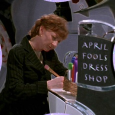 Scene 36: Mrs Finkle at April Fools Dress Shop