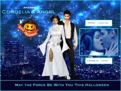 Halloween at Angel Investigations: Star Wars Version (Cordelia/Angel Art by Lysa Whitmore)