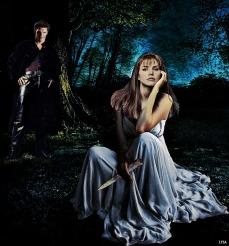 The Bait - C/Aus Gameface (Cordelia/Angelus Art by Lysa Whitmore)